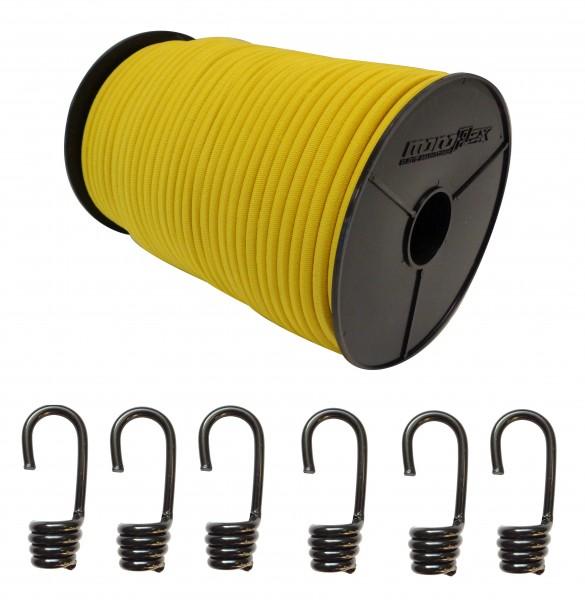 Expanderseil + Spiralhaken in Gelb