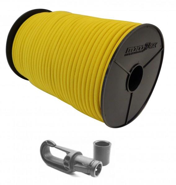 Expanderseil in Gelb + Kunststoff Karabiner