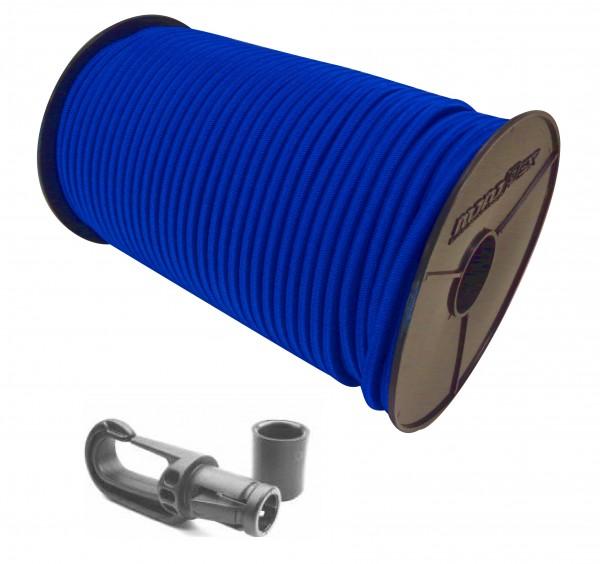Expanderseil in Blau + Kunststoff Karabiner