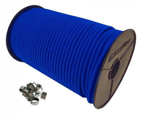 Expanderseil in Blau + Würgeklemmen