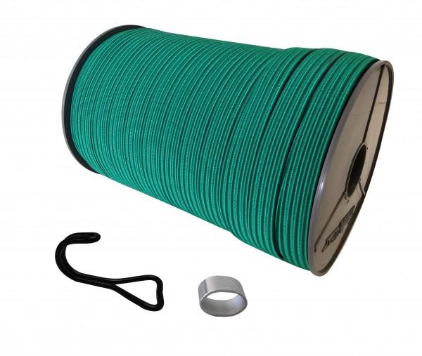 22mm Expanderband Gummiband flach in Grün mit Doppelhaken