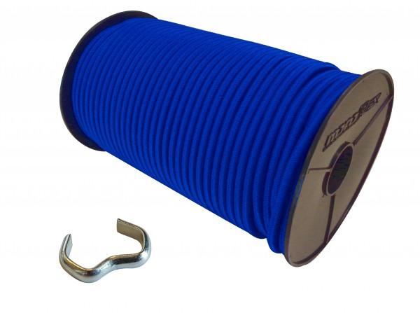 Expanderseil in Blau + Seilklemmen